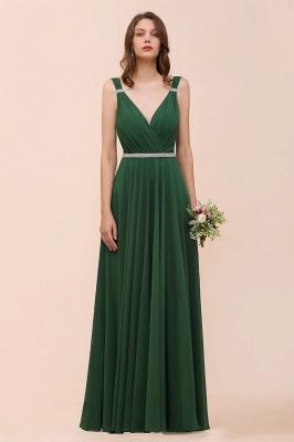 Grüne Brautjungfernkleider Günstig | Chiffon Kleider Abendmoden Lang_7