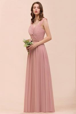 Elegante Brautjungfernkleider Altrosa | Chiffon Kleider Für Brautjungfern_8
