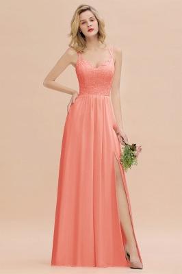Abendkleider Lang Orange   Brautjungfernkleider Günstig_45