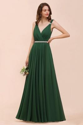 Grüne Brautjungfernkleider Günstig | Chiffon Kleider Abendmoden Lang_1