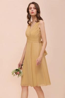 Brautjungfernkleider Gold | Kurzes Brautjungfernkleid Günstig_7