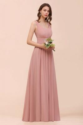 Brautjungfernkleider Lang Altrosa | Chiffon Hochzeitspartykleider_8
