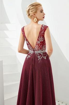 Schlichte Abendkleider Lang Rot | Abiballkleider Online_6