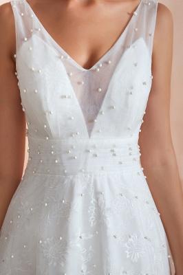 Schöne Hochzeitskleider A linie | Standesamt Brautkleid Tüll_9