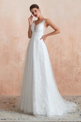 Schöne Hochzeitskleider A linie | Standesamt Brautkleid Tüll_11