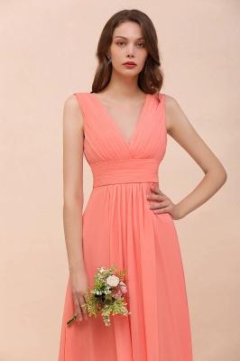 Orange Brautjungfernkleider | Hochzeitspartykleider Lang Günstig_6