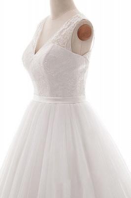 Weiße Brautkleid A Linie | Hochzeitskleider Mit Spitze_5