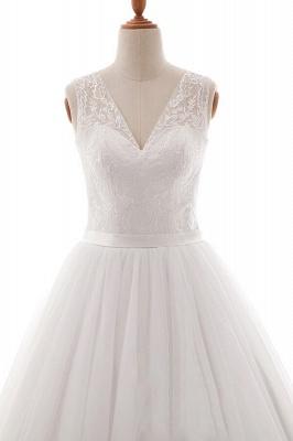 Weiße Brautkleid A Linie | Hochzeitskleider Mit Spitze_4