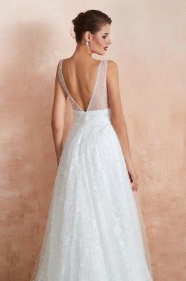 Schöne Hochzeitskleider A linie | Standesamt Brautkleid Tüll_8