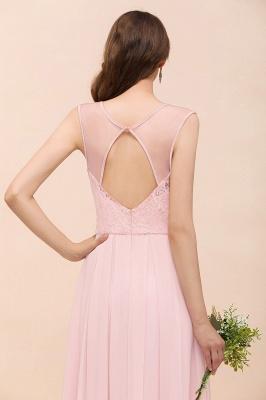 Elegante Brautjungfernkleider Lang Rosa | Hochzeitspartykleider Online_9
