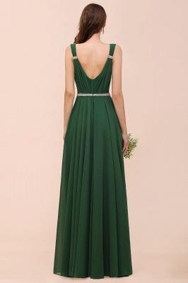 Grüne Brautjungfernkleider Günstig | Chiffon Kleider Abendmoden Lang_3
