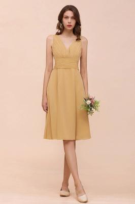 Brautjungfernkleider Gold | Kurzes Brautjungfernkleid Günstig_1