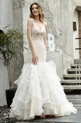 Kleid Standesamt   Brautkleid Meerjungfrau mit Spitze_3