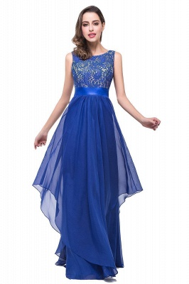 Schlichtes Abendkleid Blau | Abendkleider Lang Günstig_3