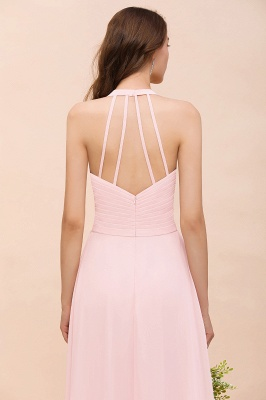 Elegante Bruatjungfernkleider Rosa | Chiffon Kleider Lang_9