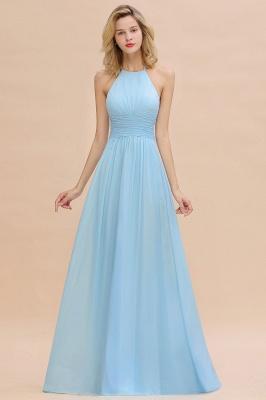 Blaues Brautjungfernkleid Chiffon | Brautjungfernkleider Lang Günstig_1