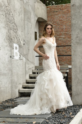 Hochzeitskleid Meerjungfrau Spitze   Brautkleider Günstig Online_10