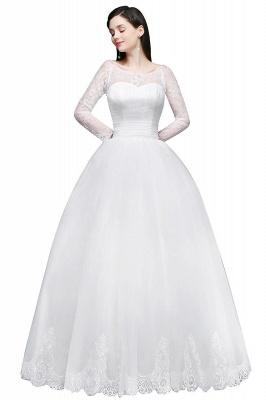 Schlichtes Hochzeitskleid mit Spitze | Prinzessin Brautkleider_1