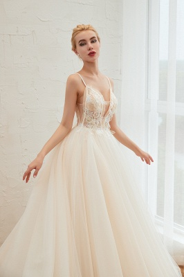 Elegante Hochzeitskleid A Linie   Standesamt Brautkleid_16