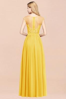 Gelb Brautjungfernkleider Lang   Kleider für Brautjungfern_2