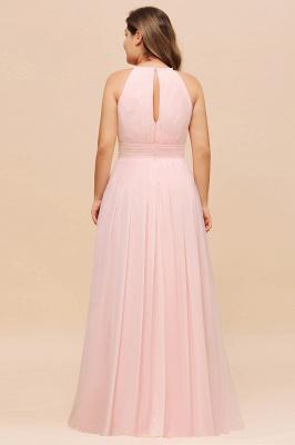 Rosa Brautjungfernkleider Große Größe | Chiffon Kleider Partykleider_3