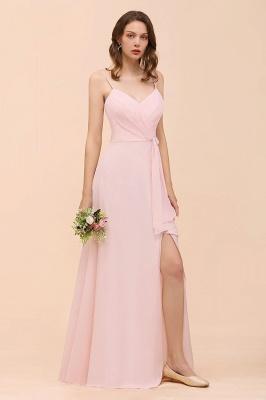 Schickt Brautjungfernkleider Rosa | Chiffon Kleider Lang Günstig_8