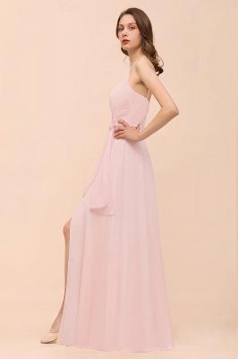 Schickt Brautjungfernkleider Rosa | Chiffon Kleider Lang Günstig_9