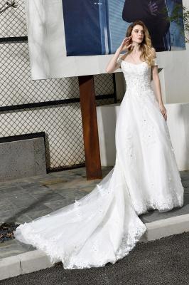 Schlichte Brautkleid A Linie   hochzeitskleider standesamt_1