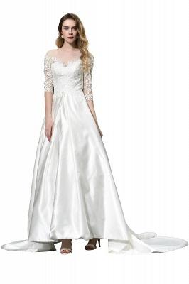Elegante Brautkleid A linie | Hochzeitskleider Standesamt_10