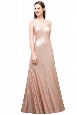 Rosa Gold Abendkleider Lang | Brautjungfernkleider Online_1