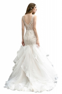 Kleid Standesamt   Brautkleid Meerjungfrau mit Spitze_4