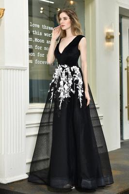 Designer Abendkleider Lang V Ausschnitt | Abendkleid Schwarz_10
