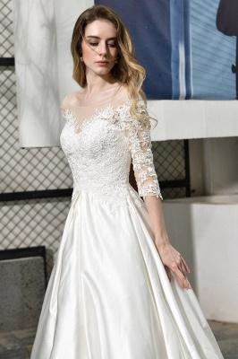 Elegante Brautkleid A linie | Hochzeitskleider Standesamt_11