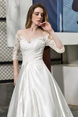 Elegante Brautkleid A linie | Hochzeitskleider Standesamt_9