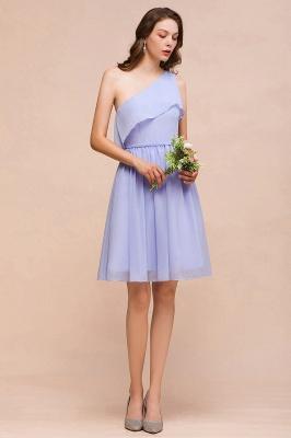 Lavender Brautjungfernkleider Kurz | Chiffon Kleider Günstig_4