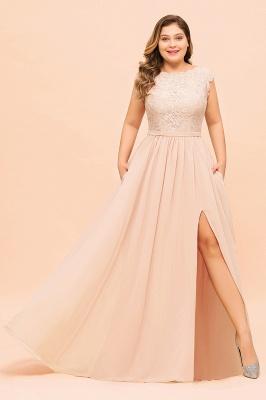 Champagne Brautjungfernkleider Große Größe   Chiffon Kleider Günstig_4