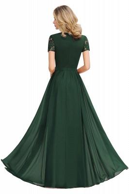 Elegante Abendkleider Lang Weinrot | Abiballkleider Ballkleider mit Ärmel_15