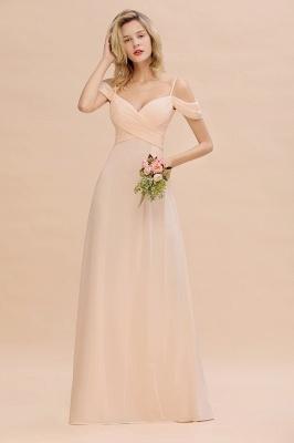 Brautjungfernkleider Lang Rosa | Chiffon Kleider Abendmoden_1