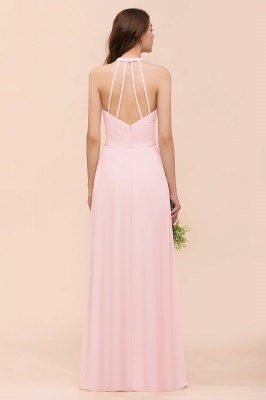 Elegante Bruatjungfernkleider Rosa | Chiffon Kleider Lang_3