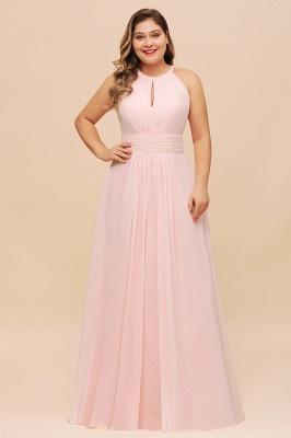 Rosa Brautjungfernkleider Große Größe | Chiffon Kleider Partykleider_1