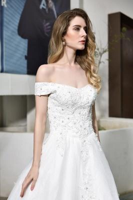 Schlichte Brautkleid A Linie   hochzeitskleider standesamt_9