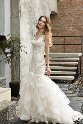 Brautkleider Meerjungfreu   Hochzeitskleid mit Spitze_11