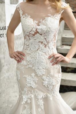 Elegante Hochzeitskleider Standesamt | Brautkleid Meerjungfrau_12