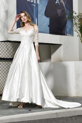 Elegante Brautkleid A linie | Hochzeitskleider Standesamt_2