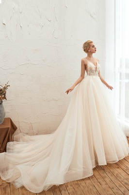 Elegante Hochzeitskleid A Linie   Standesamt Brautkleid_11
