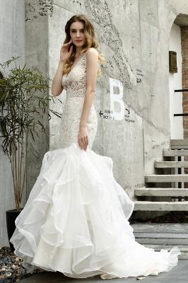 Kleid Standesamt   Brautkleid Meerjungfrau mit Spitze_7