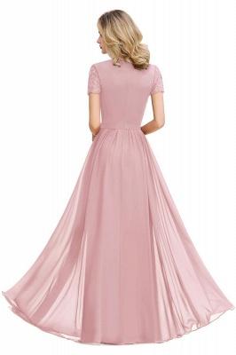 Elegante Abendkleider Lang Weinrot | Abiballkleider Ballkleider mit Ärmel_13