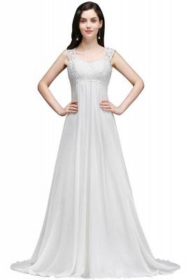 Schlichtes Brautkleid | Chiffon Hochzeitskleider Günstig Online_1