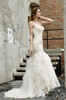 Brautkleider Meerjungfreu   Hochzeitskleid mit Spitze_9