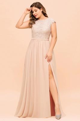 Champagne Brautjungfernkleider Große Größe   Chiffon Kleider Günstig_8